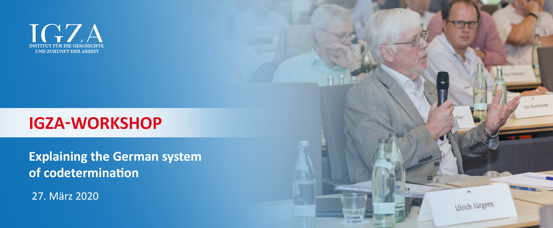 Internationaler IGZA-Workshop zum deutschen Mitbestimmungssystem
